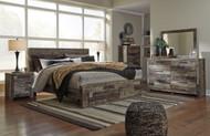 Derekson Multi Gray 7 Pc. Dresser, Mirror, Chest & King Storage Footboard Bed