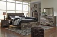 Derekson Multi Gray 6 Pc. Dresser, Mirror & King Storage Footboard Bed