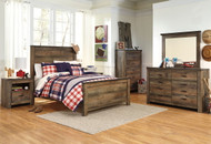 Trinell Brown 6 Pc. Dresser, Mirror, Chest & Full Panel Bed