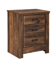 Quinden Dark Brown Two Drawer Night Stand