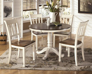 Whitesburg Brown/Cottage White 6 Pc. Round Dining Room Set