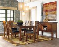 Ralene Medium Brown 8 Pc. Rectangular Butterfly Extension Dining Set