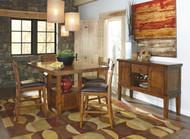 Ralene Medium Brown Pc. Rectangular Dining Set