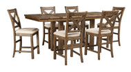 Moriville Gray 7 Pc. Rectangular Dining Set