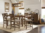 Moriville Gray 8 Pc. Rectangular Counter Height Extension Dining Set