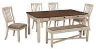 Bolanburg Antique White Pc. Rectangular Dining Set