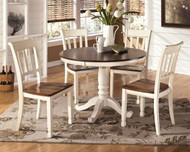 Whitesburg Brown/Cottage White Round DRM Table