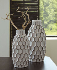 Dionna White Vase Set