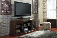 Chanceen Dark Brown Medium TV Stand/Fireplace Option
