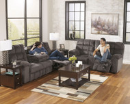 Acieona Slate 2 Pc. Reclining Sofa & Loveseat