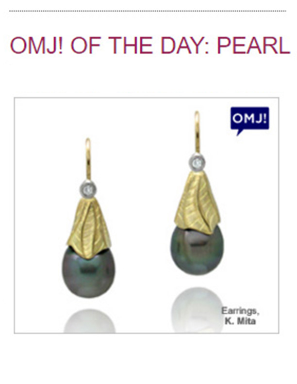 K.Mita's Tahitian Pearl Drop Earrings from her Sand Dune Collection | JIC Blog: Oh My Jewelry