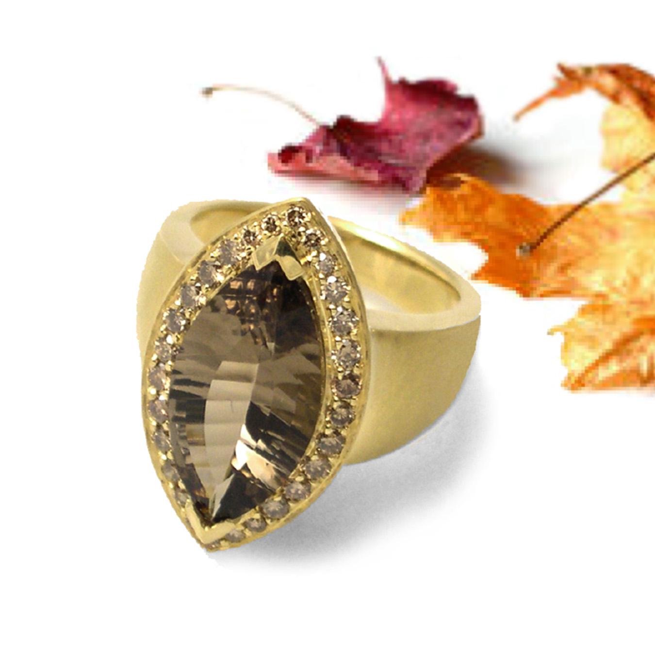 Smoky Quartz Ring from K.Mita   Colors for Thanksgiving