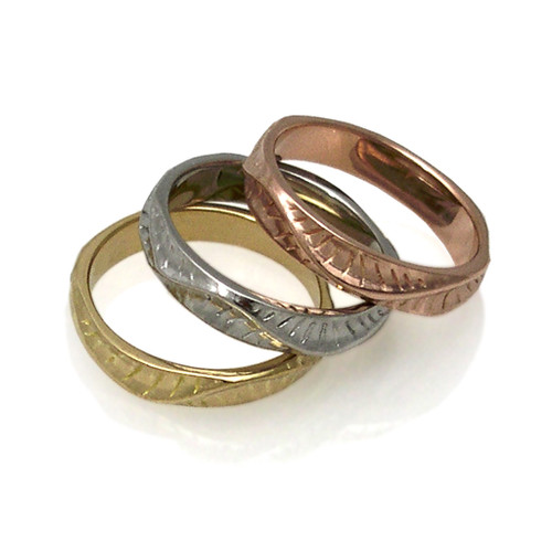 Stackable Rings from Keiko Mita's Sand Dune Collection