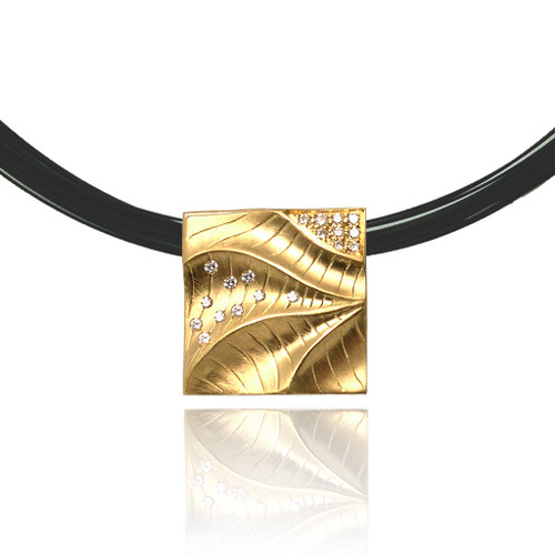 Square Pendant from Keiko Mita's Sand Dune Collection