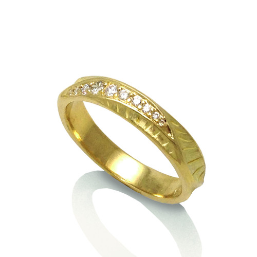 Wave Crest Ring from Keiko Mita's Sand Dune Collection