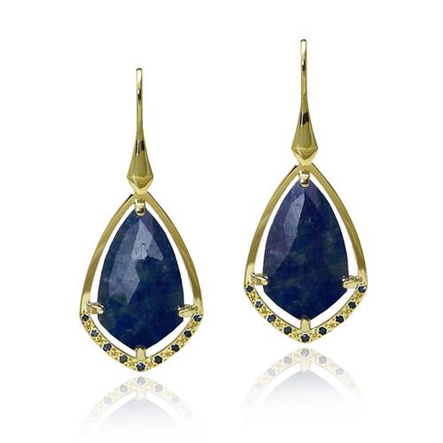 Keiko Mita's Midnight Earrings from her Sunburst Collection