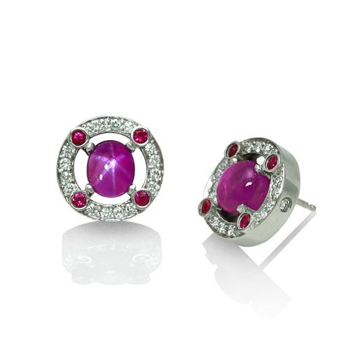 Keiko Mita's Star Ruby Earrings | Custom Order