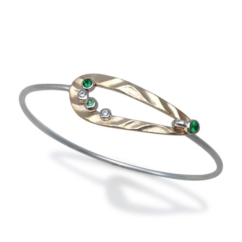 Open Pebble Bracelet, Modern Art Jewelry by K.Mita