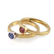 Washi Stackable Rings V2 by K. Mita, Textured Band Rings