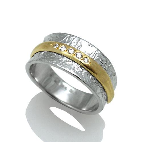 Washi Double Band Ring by K. Mita, Modern Fine Jewelry