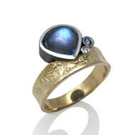 Washi Blue Moon Ring by K. Mita, Modern Fine Jewelry
