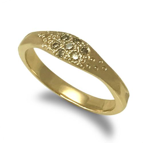 K.Mita Sandy Ring   Bridal   Sand Dune Collection