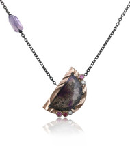 Purple Moon Pendant by K.Mita.