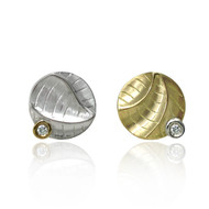 Small Round Studs from Keiko Mita's Sand Dune Collection (Front View)