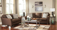 Ashley Janley Living Room Set in Cocoa