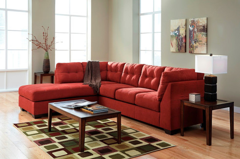 Ashley Maier Red Sofa Set Masters Buy Or Lease