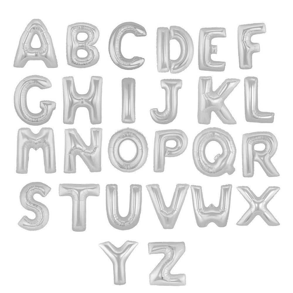 Silver Alphabet Balloons