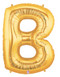 """40"""" Megaloon Letter B Gold Balloon"""