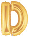 """40"""" Megaloon Letter D Gold Balloon"""
