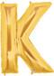 "40"" Megaloon Letter K Gold Balloon"
