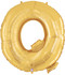 """40"""" Megaloon Letter Q Gold Balloon"""