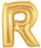 """40"""" Megaloon Letter R Gold Balloon"""