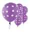"11"" Spring Lilac Polka Dots Latex Balloon"
