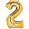 """35"""" Decorator Number 2 Balloon - Gold P50"""