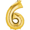 """35"""" Decorator Number 6 Balloon - Gold P50"""