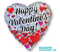 """18"""" Happy Valentine's Day Heart Clusters S55"""