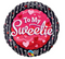 "18"" Round Foil To My Sweetie Hearts&Dots"