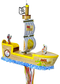 3D Jake And The Neverland Pirate Ship Pull Pinata