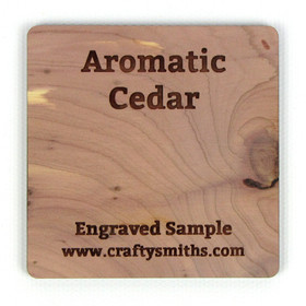 Aromatic Red Cedar - Tier 1 Domestic Hardwood - Engraved Sample Chip