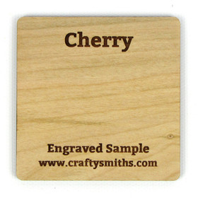 Cherry - Tier 3 Domestic Hardwood - Engraved Sample Chip