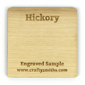 Hickory - Tier 1 Domestic Hardwood - Engraved Sample Chip