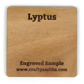 Lyptus - Tier 2 Hybrid Hardwood - Engraved Sample Chip