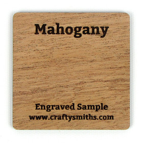 Mahogany - Tier 3 Exotic Hardwood - Engraved Sample Chip
