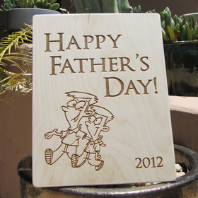 Happy Father's Day Keepsake Personalized Wood Sign