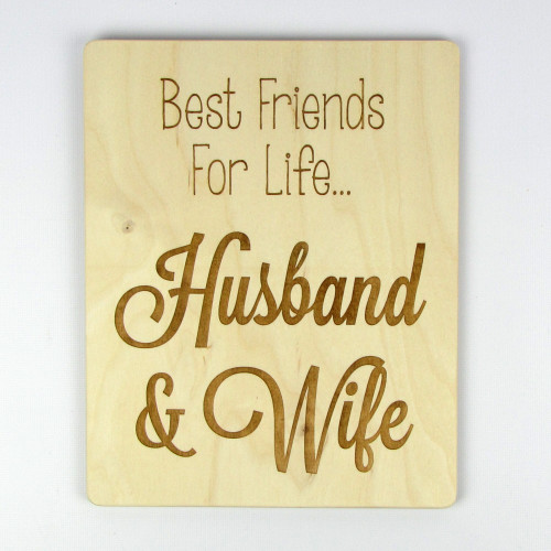 "Best Husband And Wife: Husband And Wife"" Wood Sign"