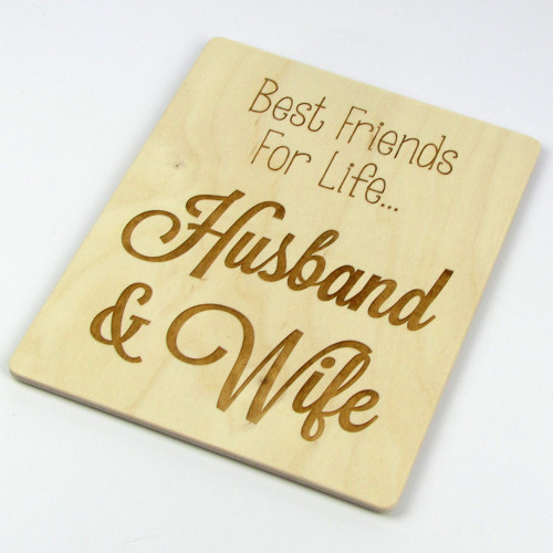 Quot Best Friends For Life Husband And Wife Quot Wood Sign The